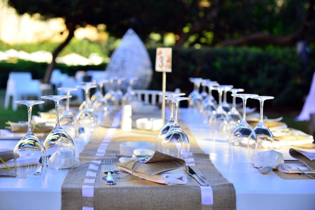 Glassware, China and Linens