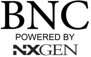BNC POWERED BY NXGEN BLACK SQUARE LOGO